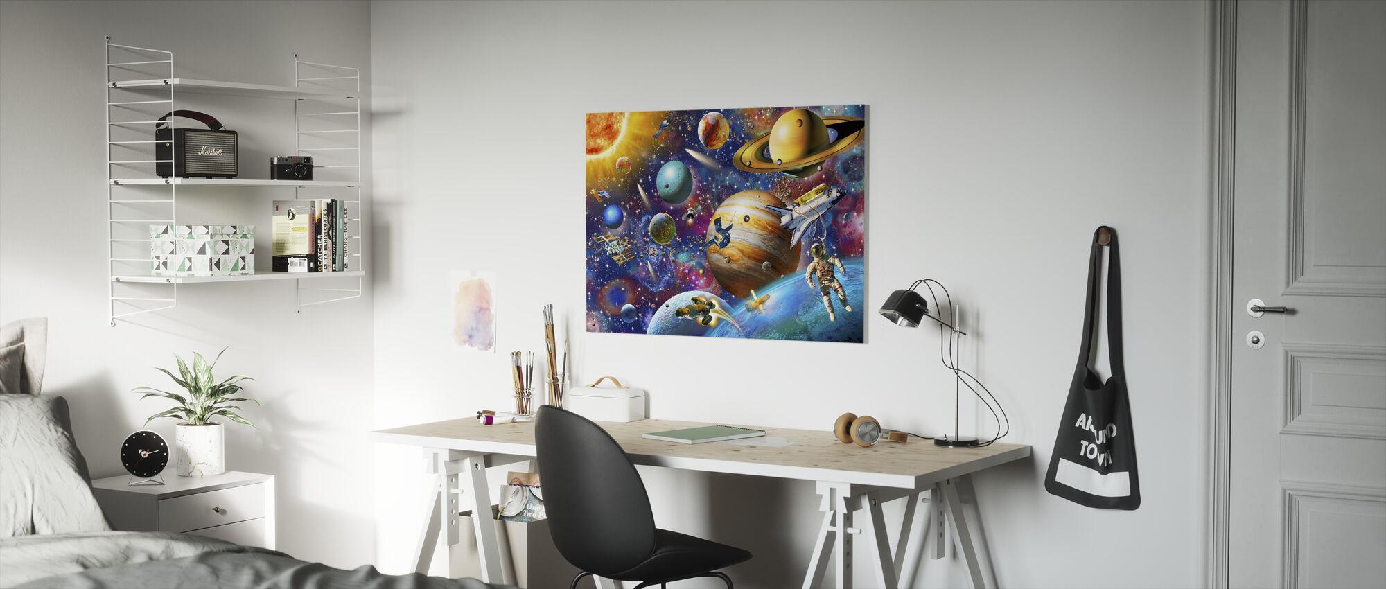 Solsystemet Odyssey - Lerretsbilde - Barnerom