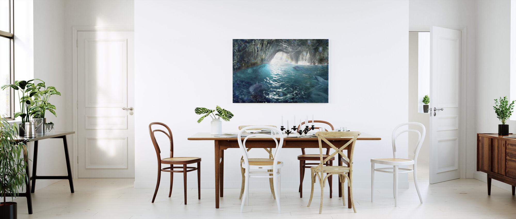 Delfin Seacave - Canvastavla - Kök