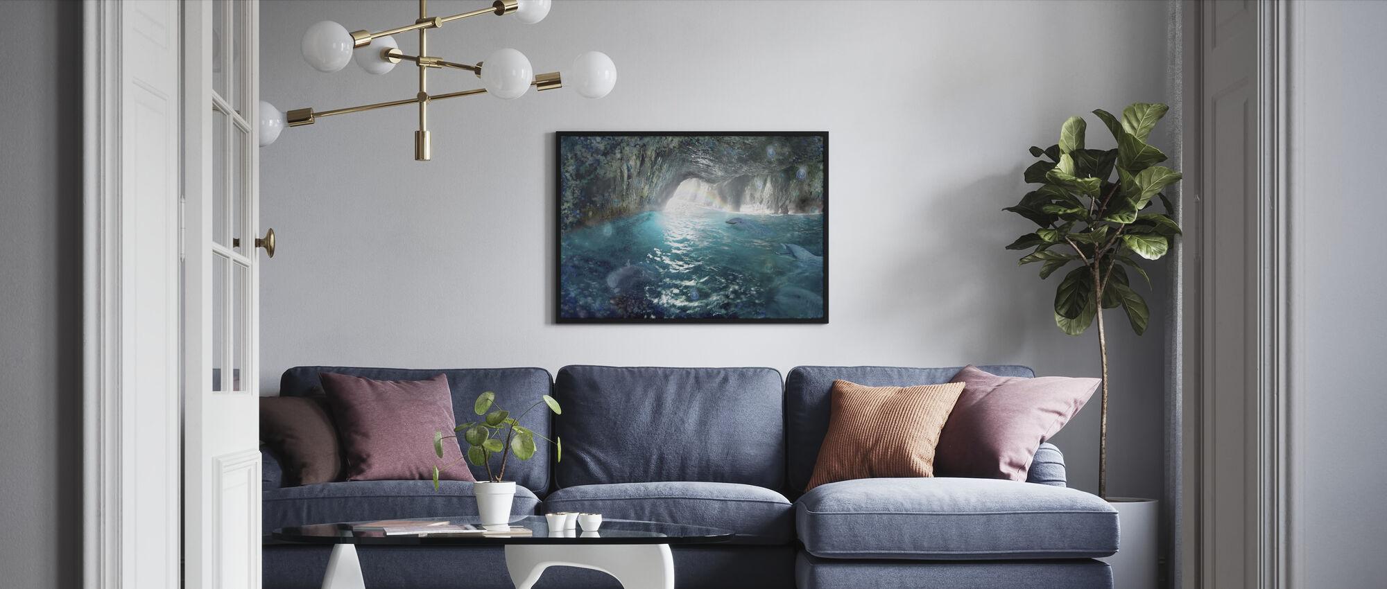 Delfin Seacave - Inramad tavla - Vardagsrum