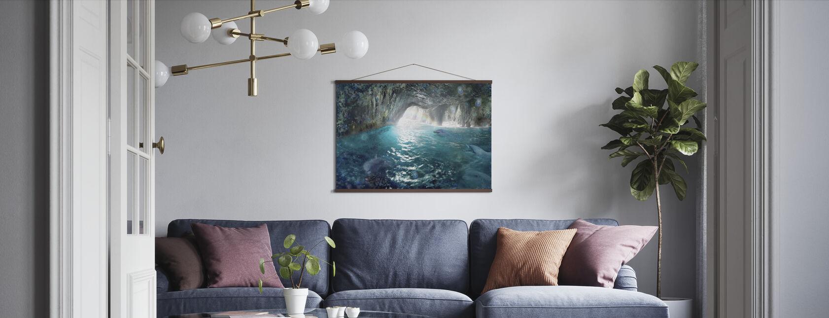 Delfin Seacave - Poster - Vardagsrum