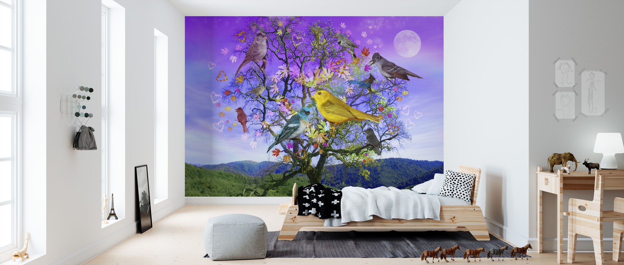 Tree of Happiness - Wallpaper - Kids Room