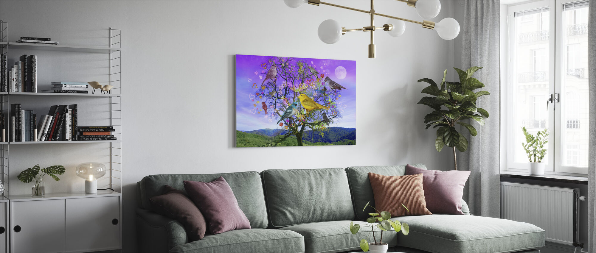 Tree of Happiness - Canvas print - Living Room
