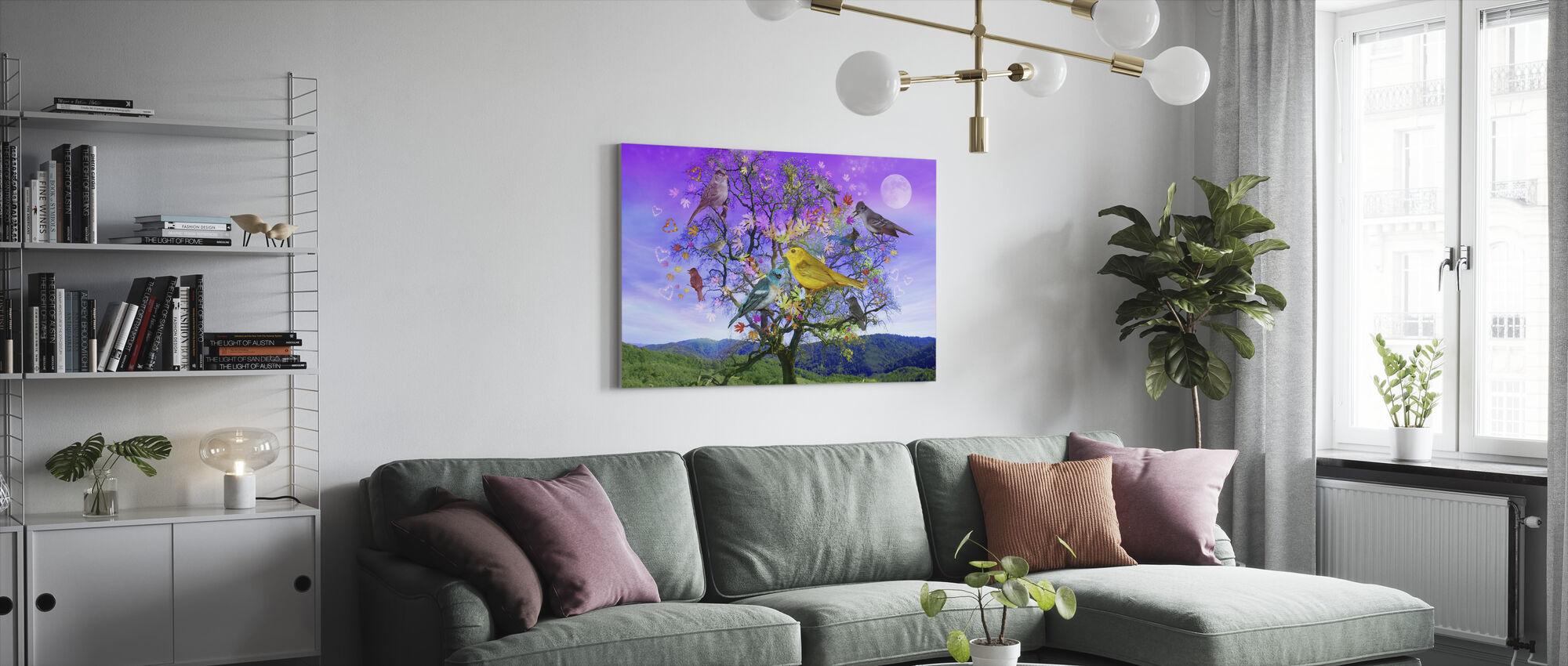 Träd av lycka - Canvastavla - Vardagsrum