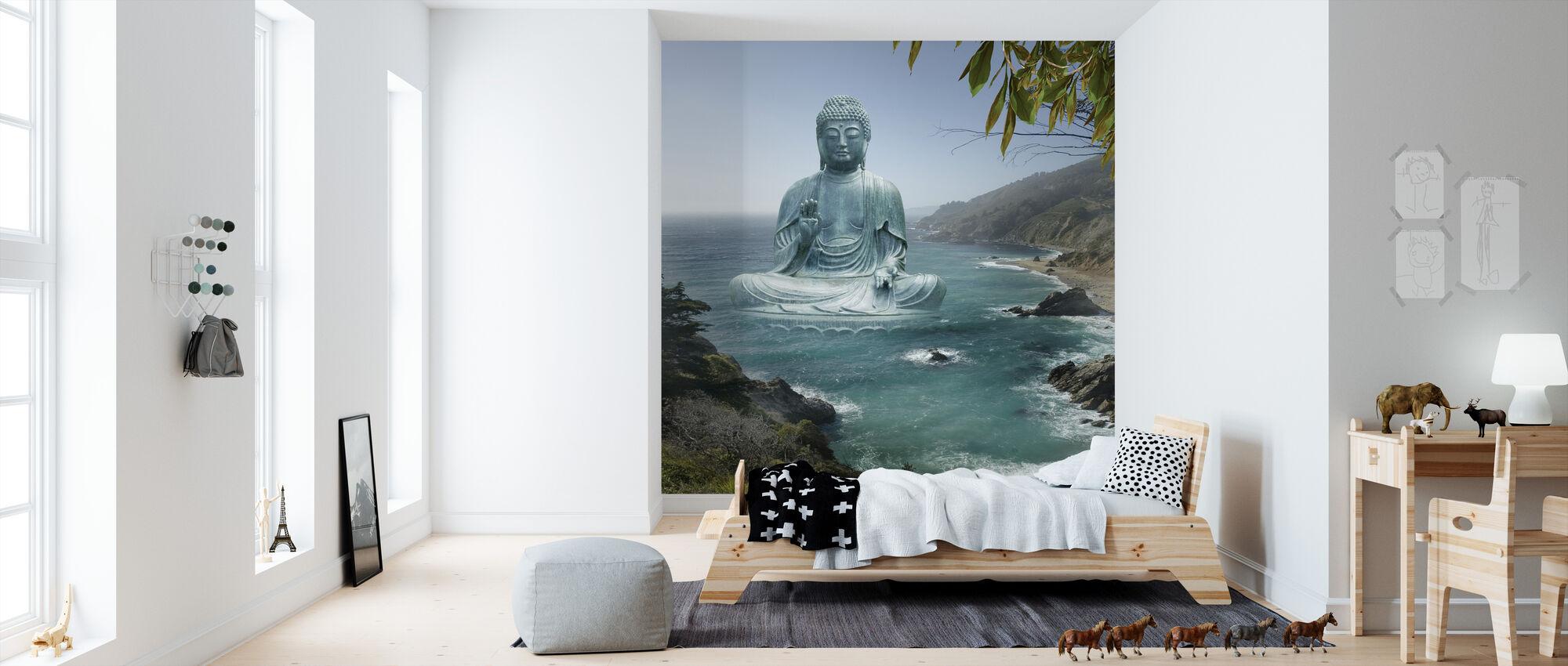 Big Sur te hage Buddha - Tapet - Barnerom