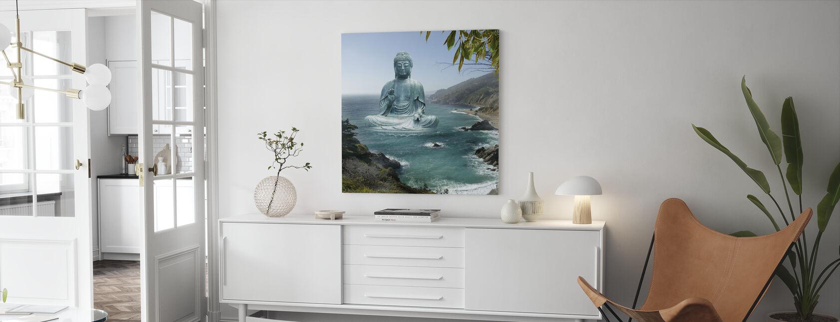 Iso Sur Tea Puutarha Buddha - Canvastaulu - Olohuone