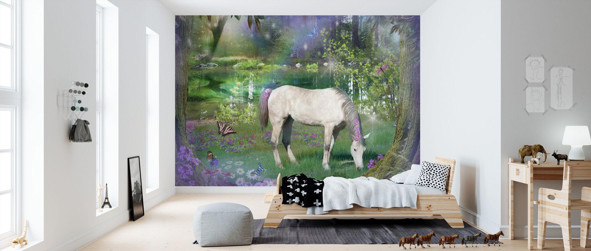 Emerald Unicorn - Tapet - Barnrum
