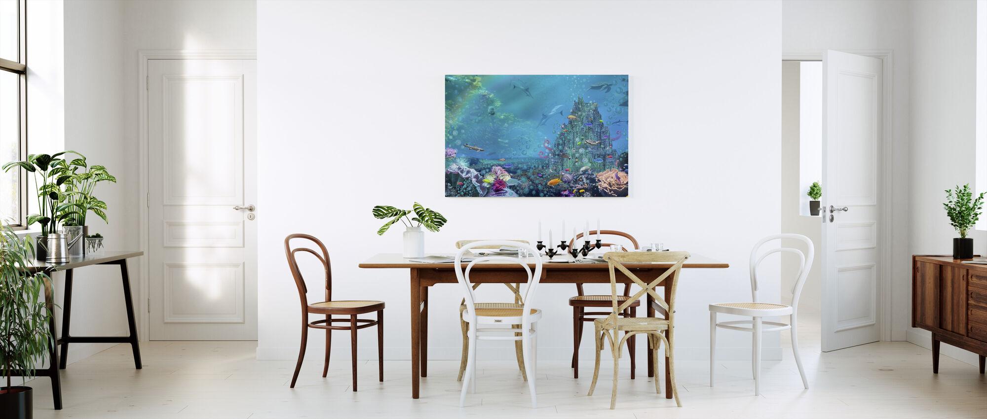 Underwater Castle - Canvas print - Kitchen