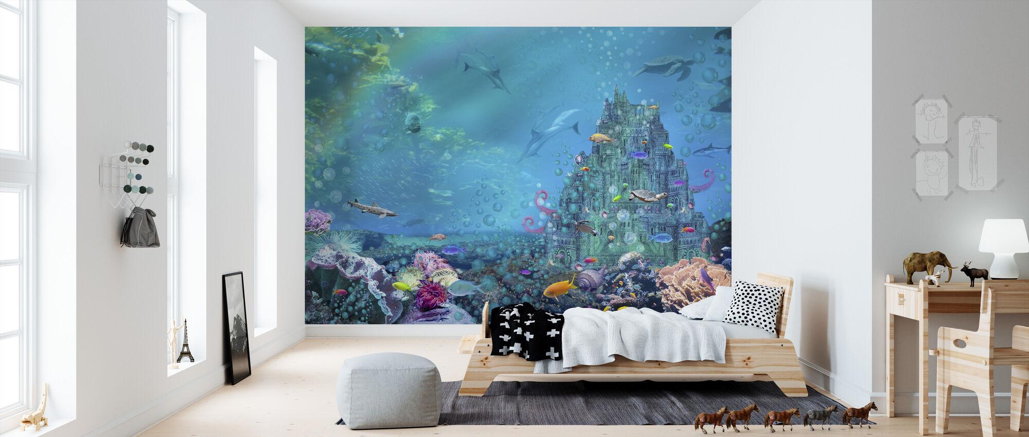 Underwater Castle - Wallpaper - Kids Room