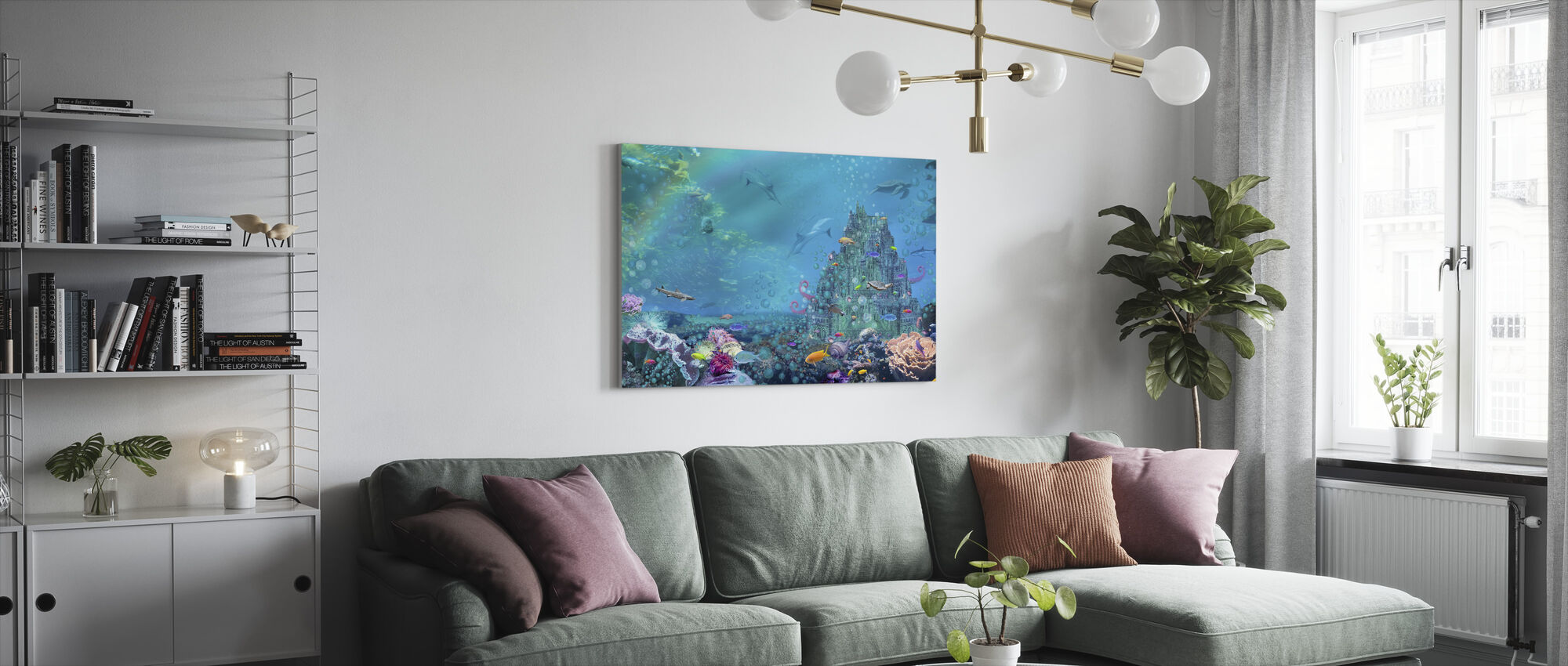 Underwater Castle - Canvas print - Living Room