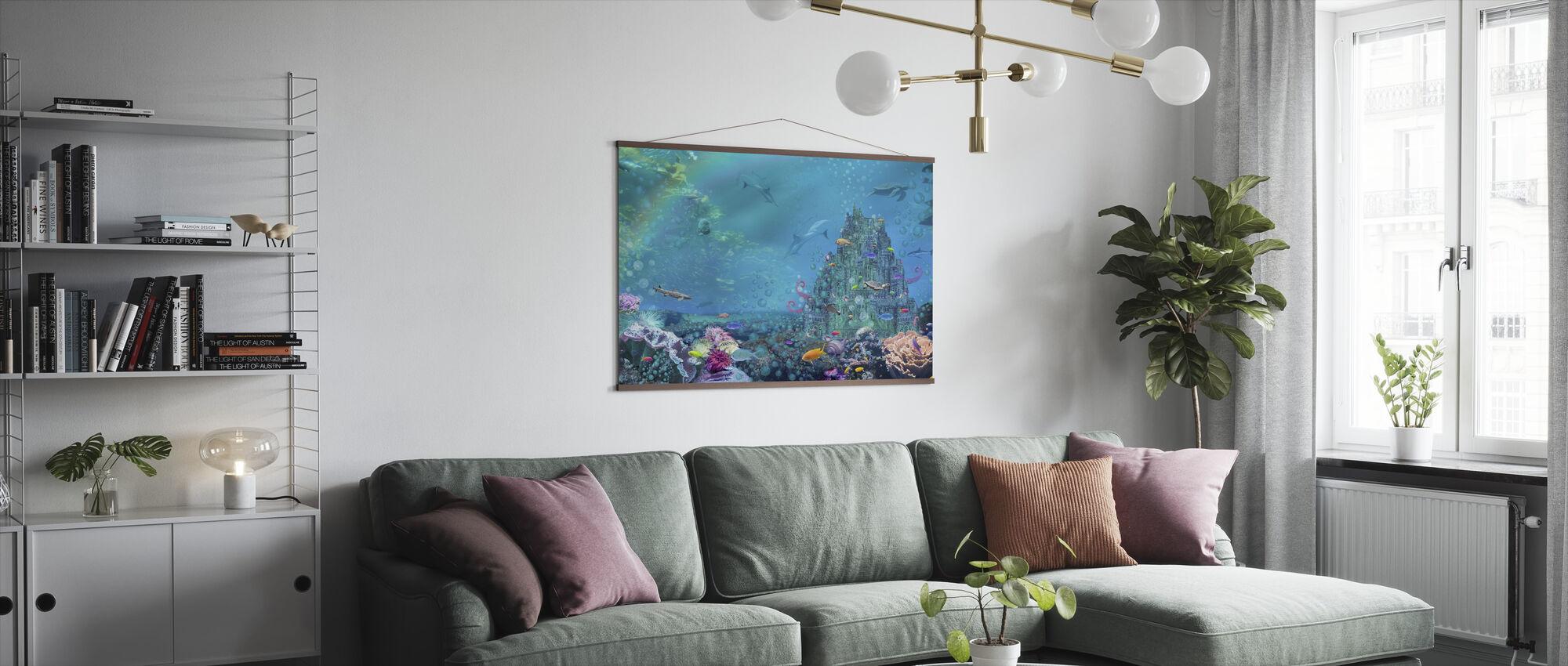 Underwater Castle - Poster - Living Room