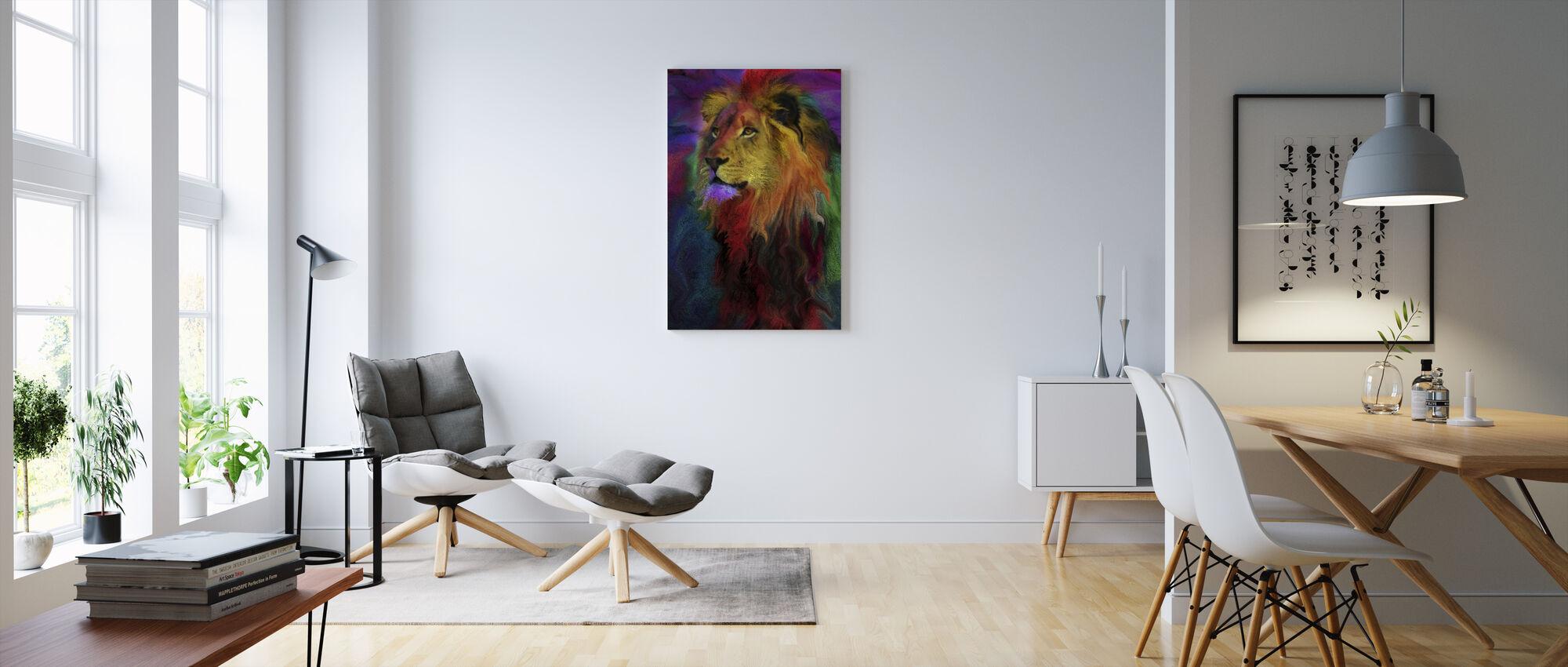 Rainbow Lion - Canvas print - Living Room