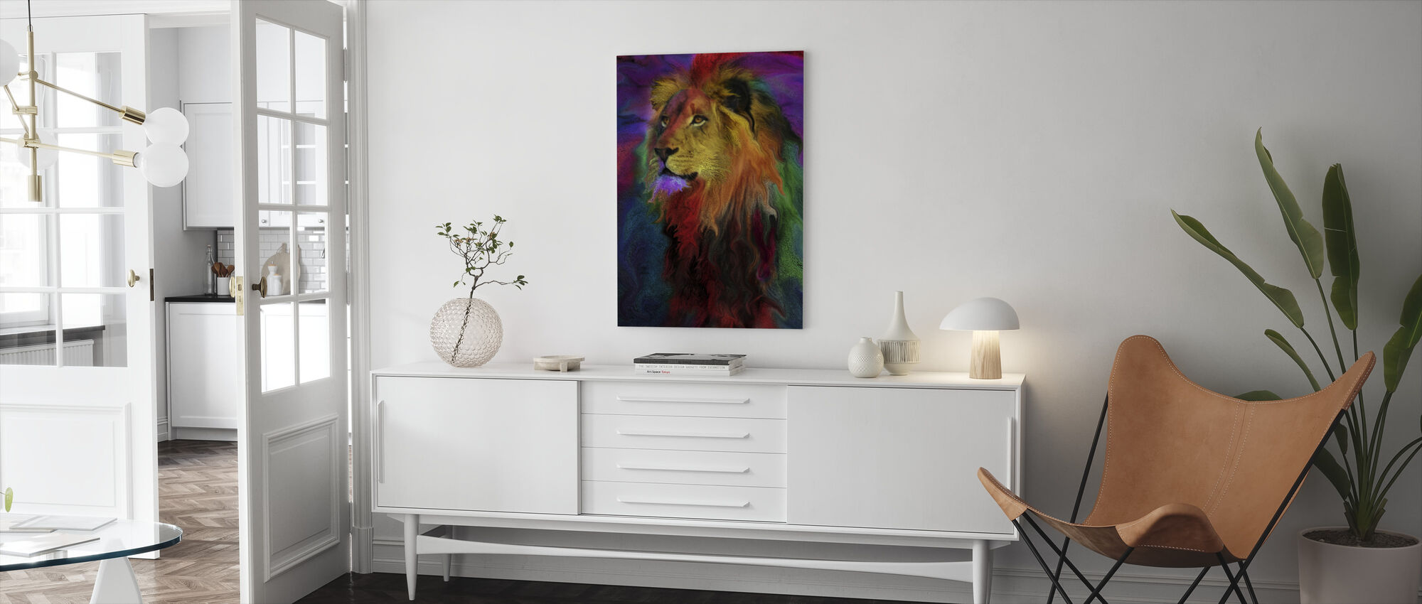 Rainbow Lion - Canvas print - Living Room