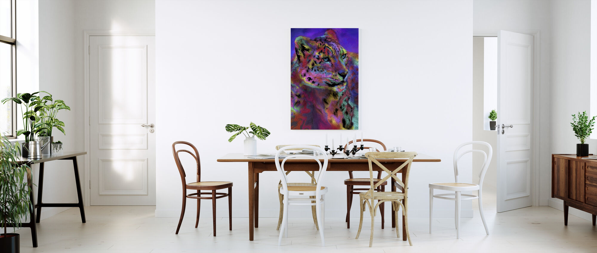 Rainbow Snowleaopard - Canvas print - Kitchen