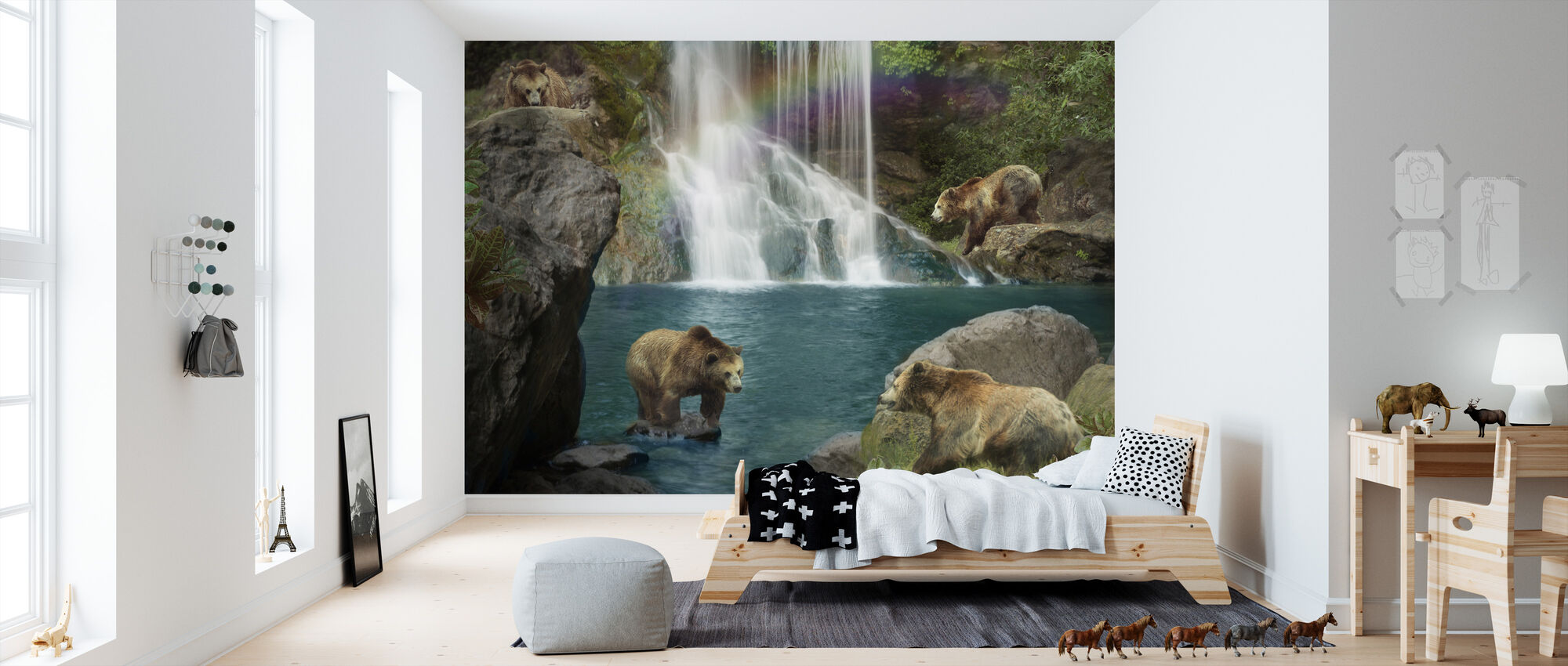 Bear Falls - Wallpaper - Kids Room