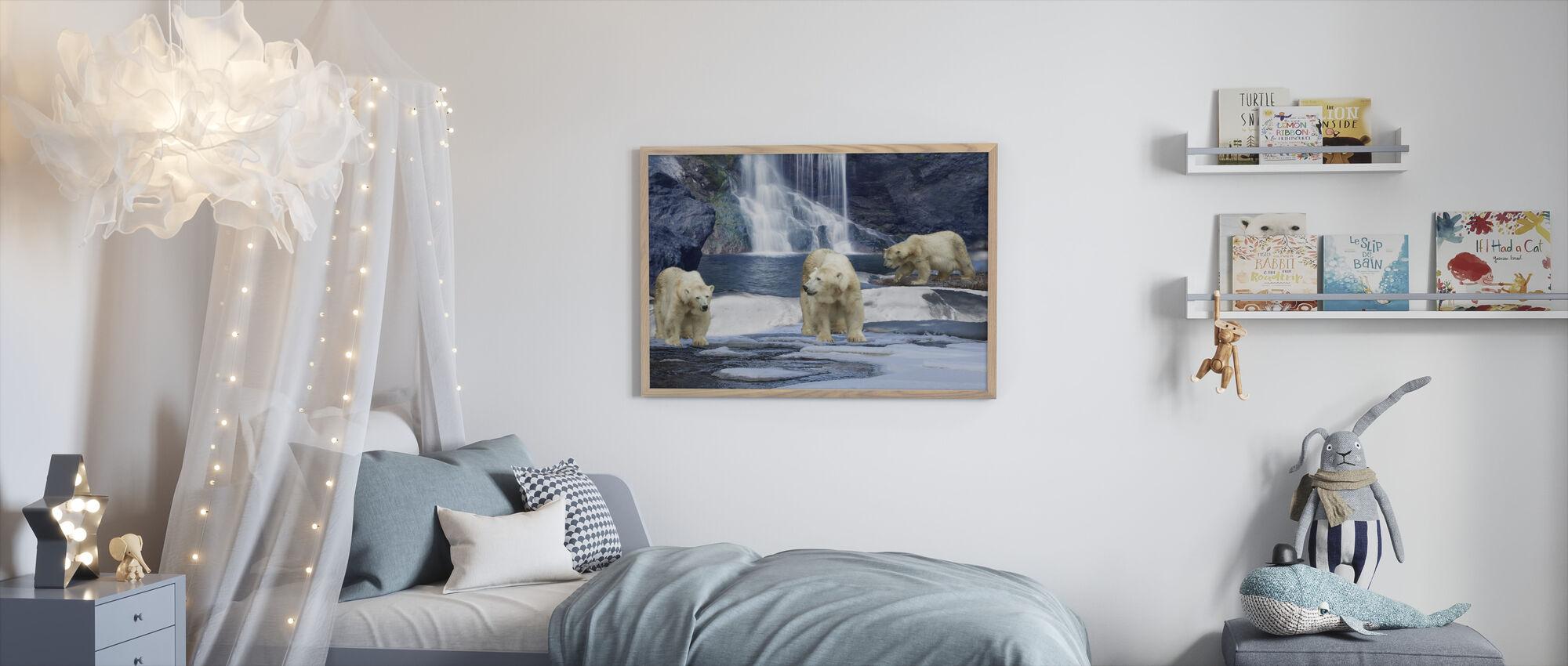 Polarbear Winter - Framed print - Kids Room