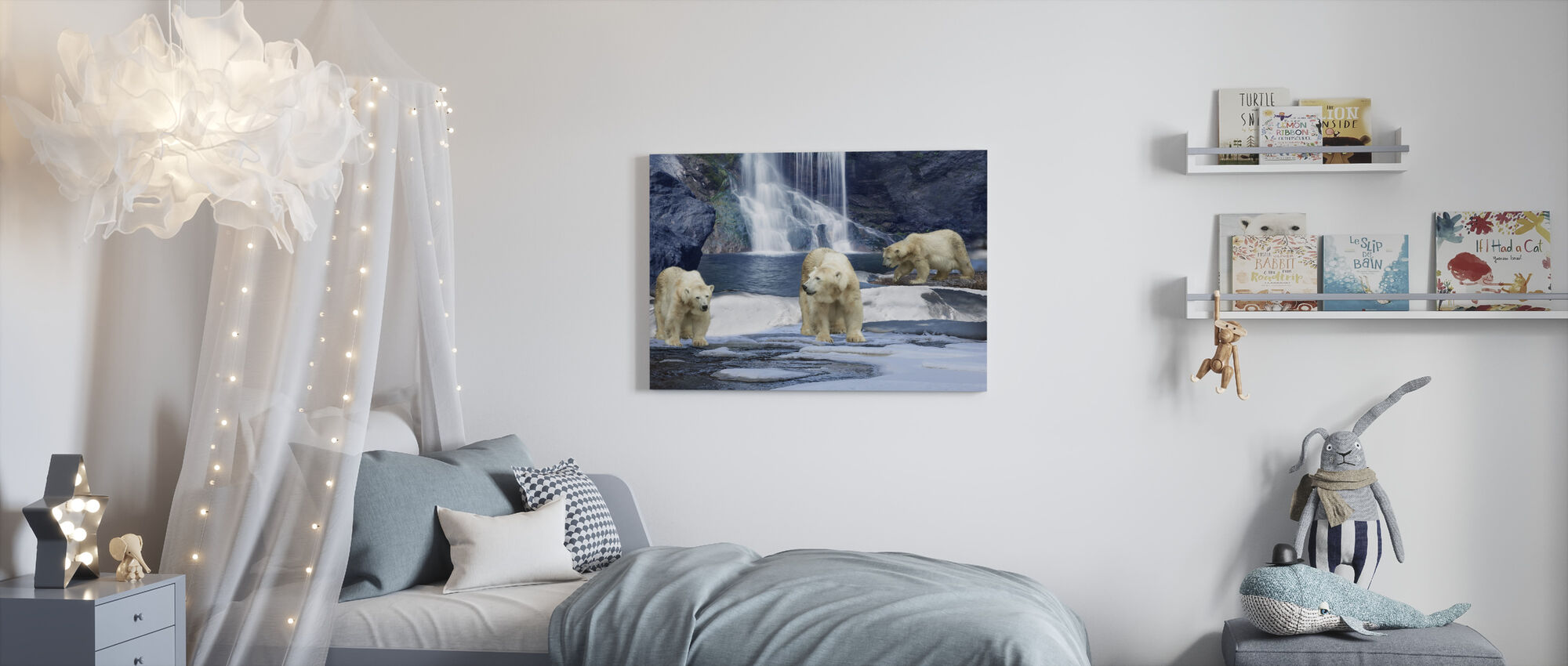 Polarbear Winter - Canvas print - Kinderkamer
