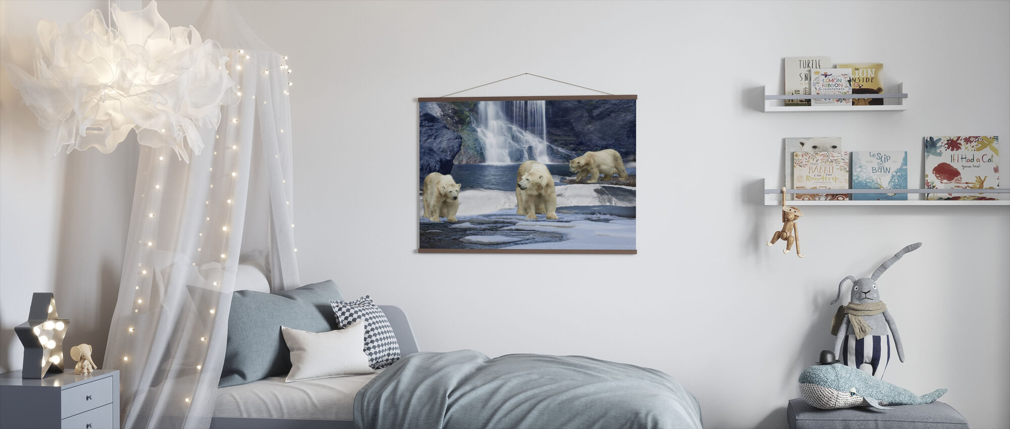Polarbear Winter - Poster - Kids Room