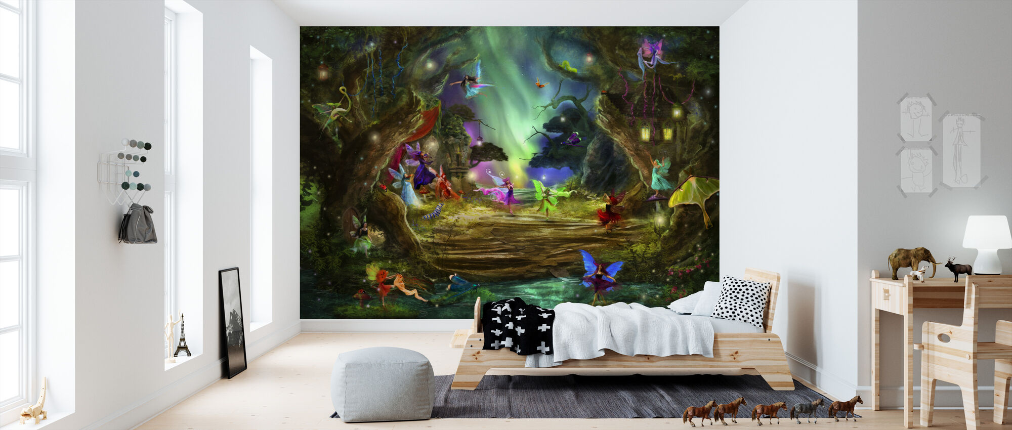 The Dancing Auroras - Wallpaper - Kids Room