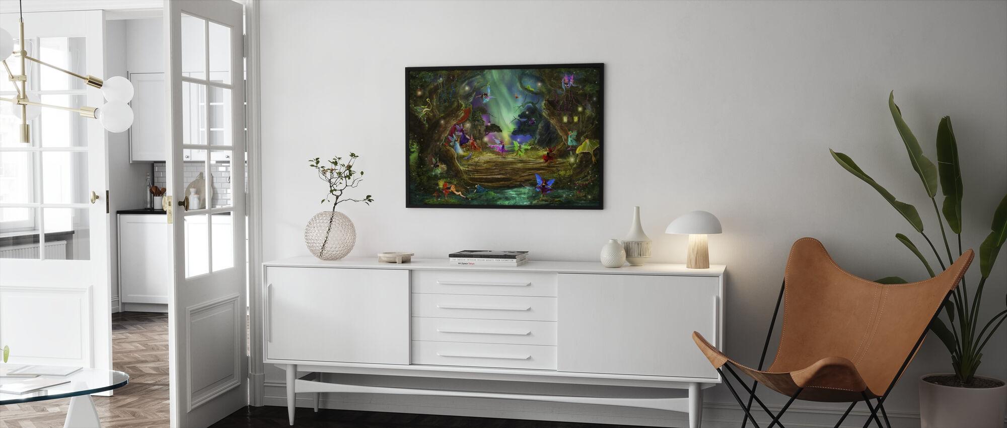 The Dancing Auroras - Framed print - Living Room