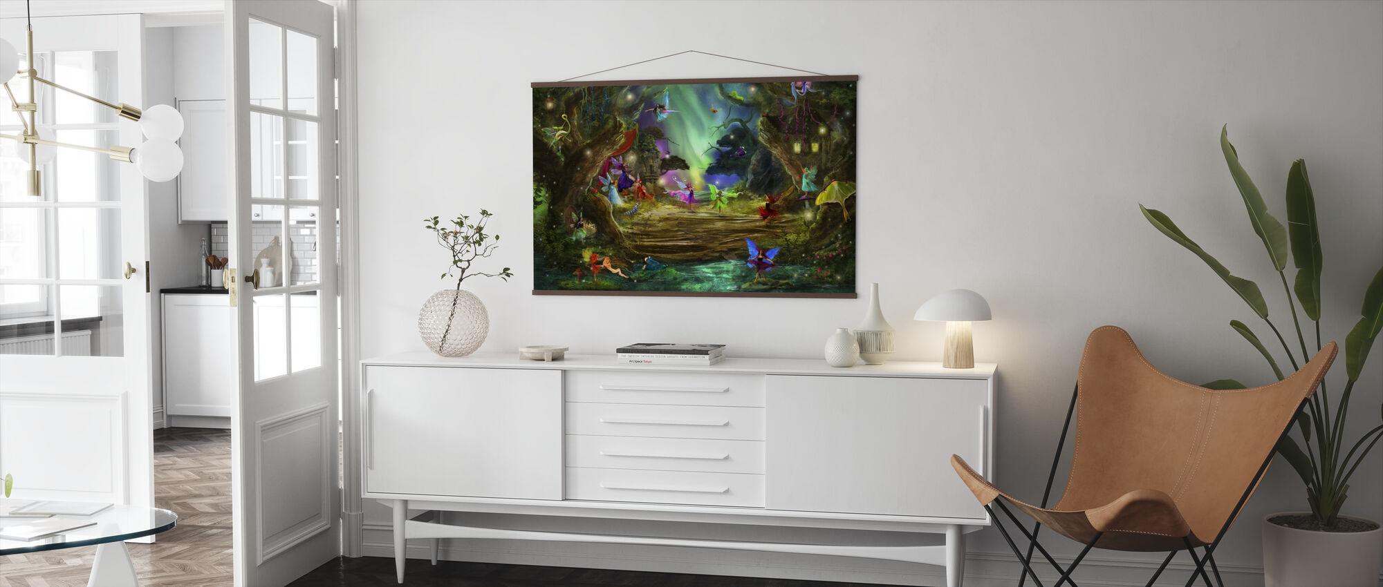 De dansende Aurora's - Poster - Woonkamer