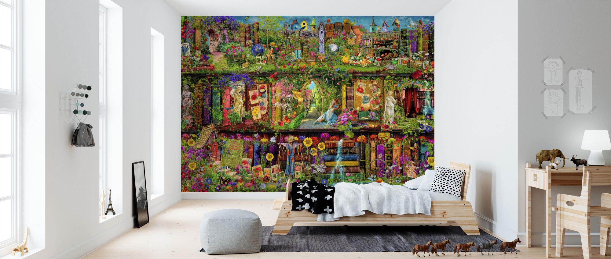 Das Gartenregal - Tapete - Kinderzimmer