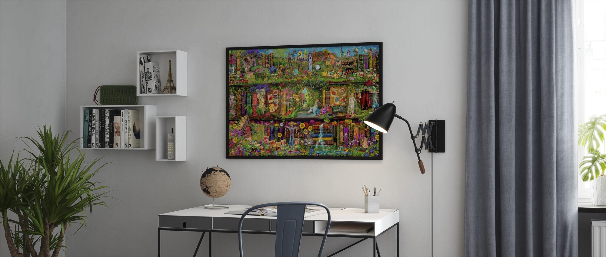 The Garden Shelf - Framed print - Office