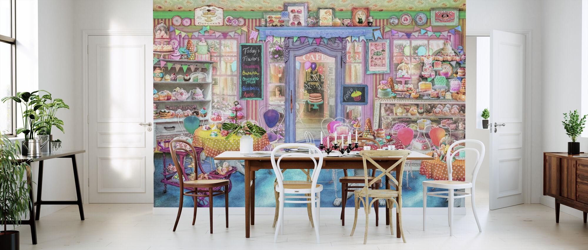 Vintage Cake Shop - Wallpaper - Kitchen