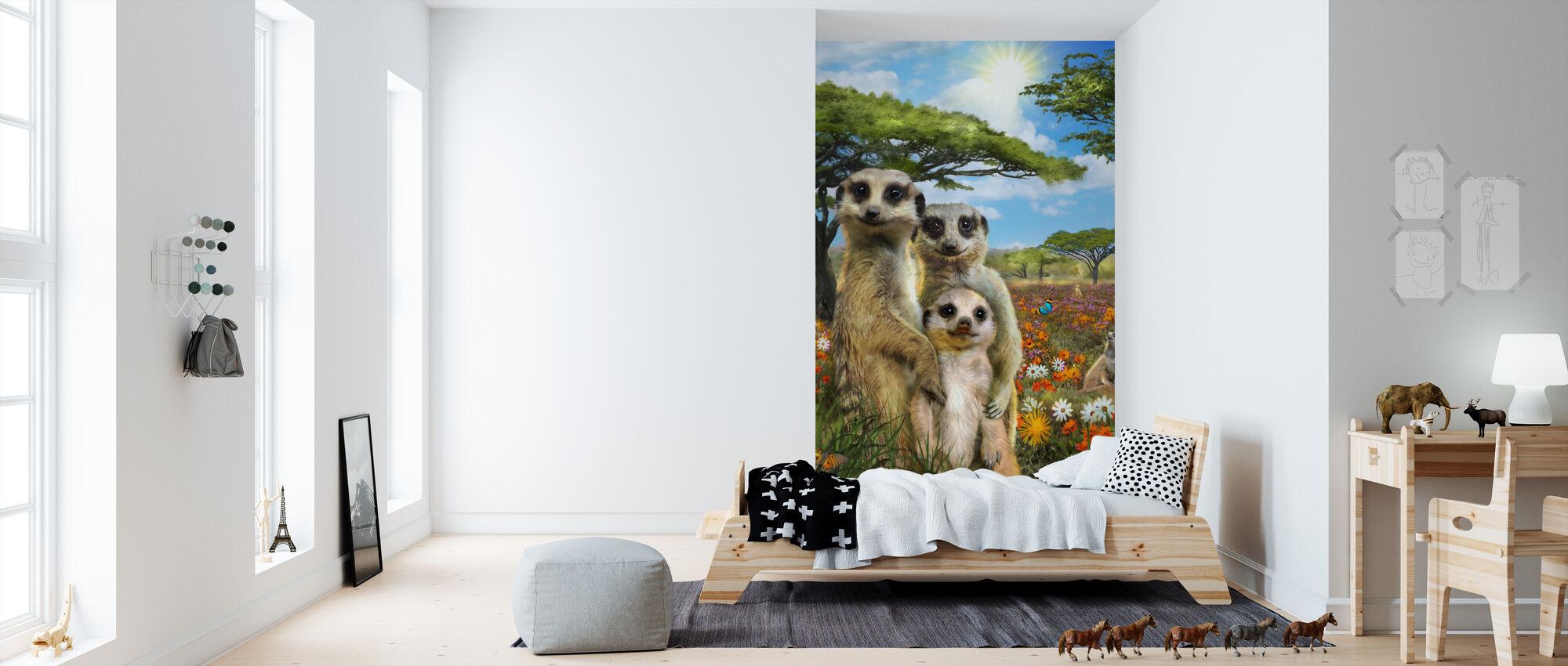 Suricato Savannah - Papel pintado - Cuarto de niños