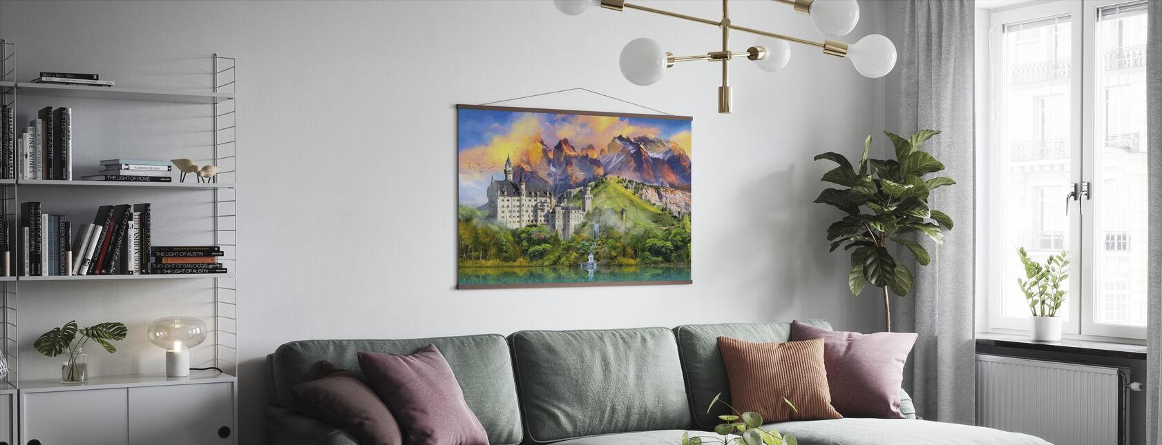 Kasteel Majesteit - Poster - Woonkamer