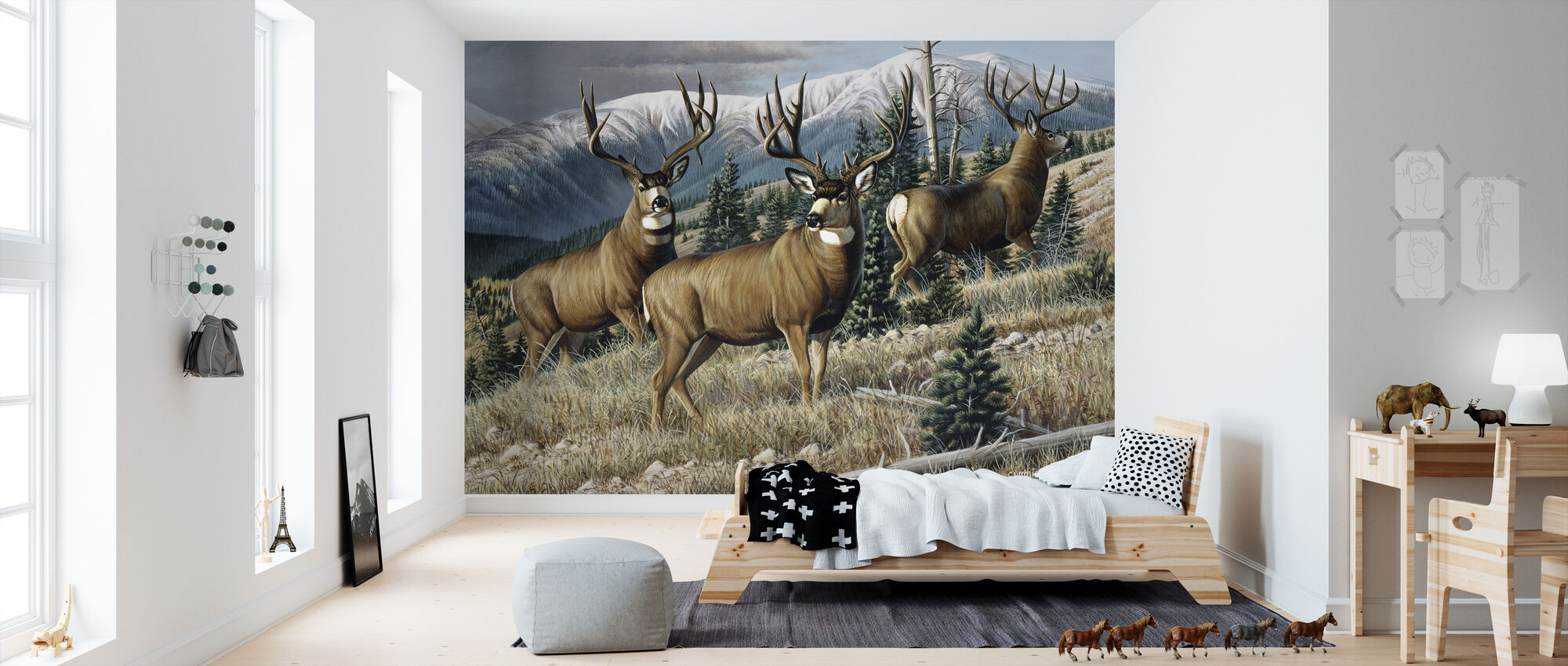 Up the Mountain - Wallpaper - Kids Room