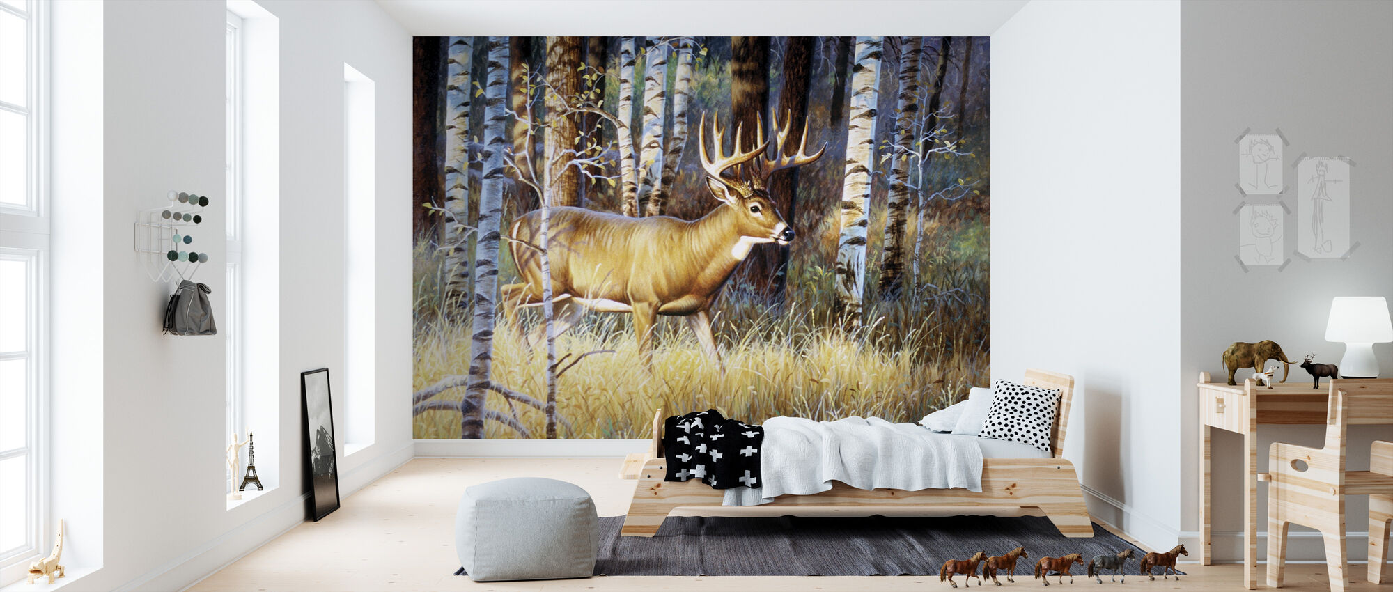 Single Whitetail - Tapet - Barnerom