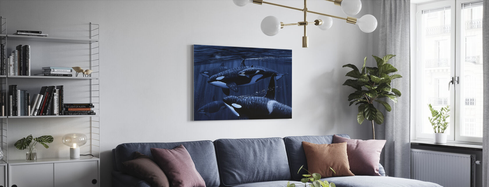 Orka's met Baby - Canvas print - Woonkamer