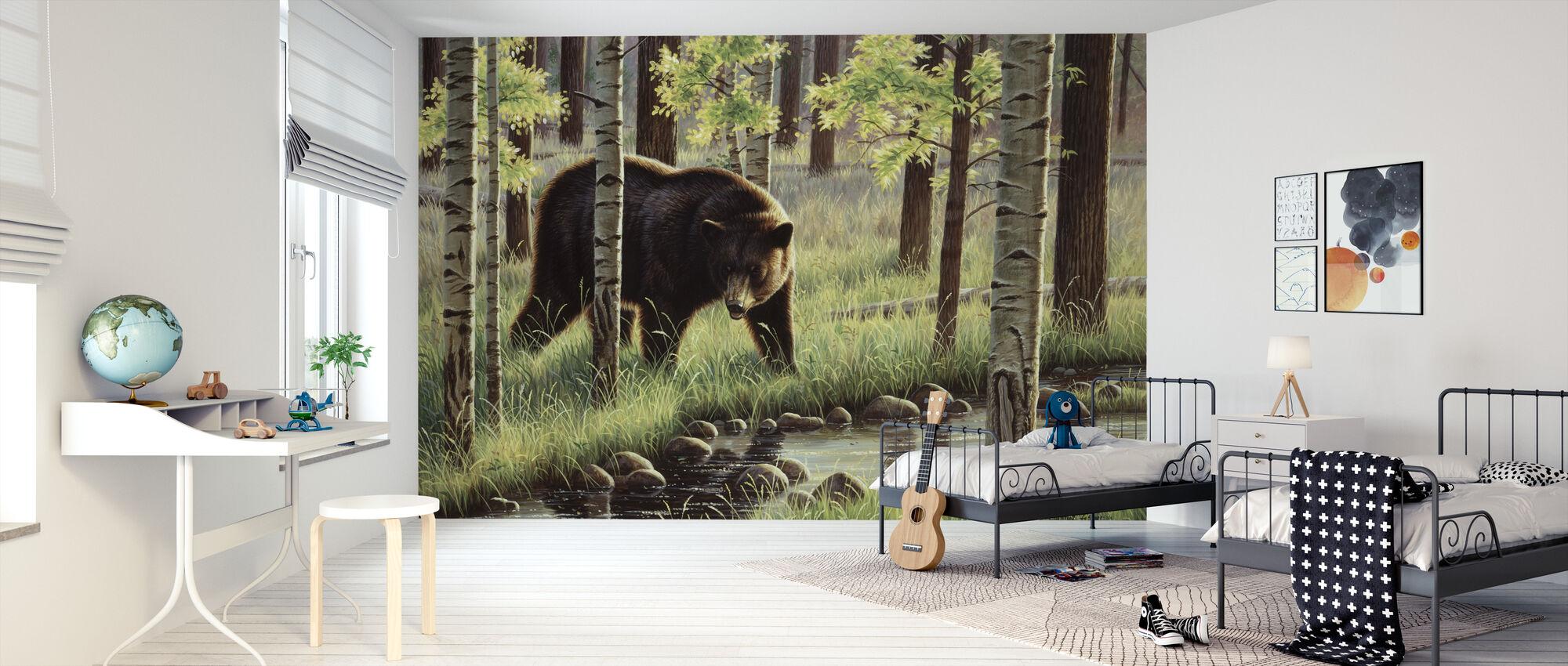 Musta Karhu - Tapetti - Lastenhuone