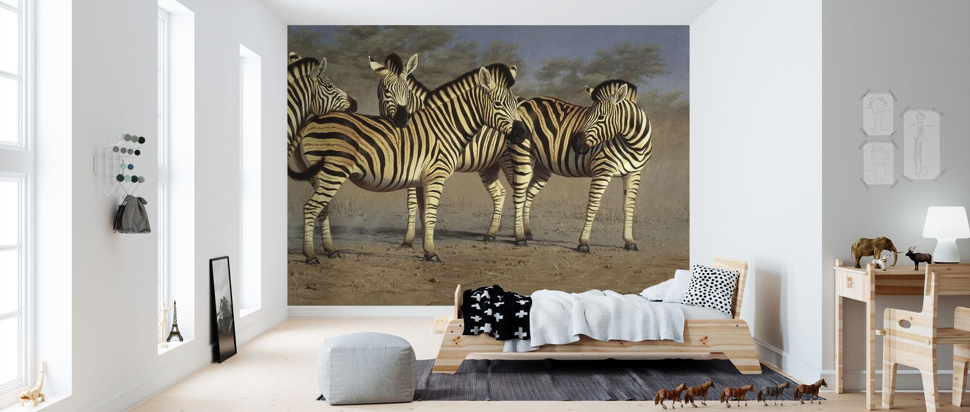 Zebra Grupp - Tapet - Barnrum