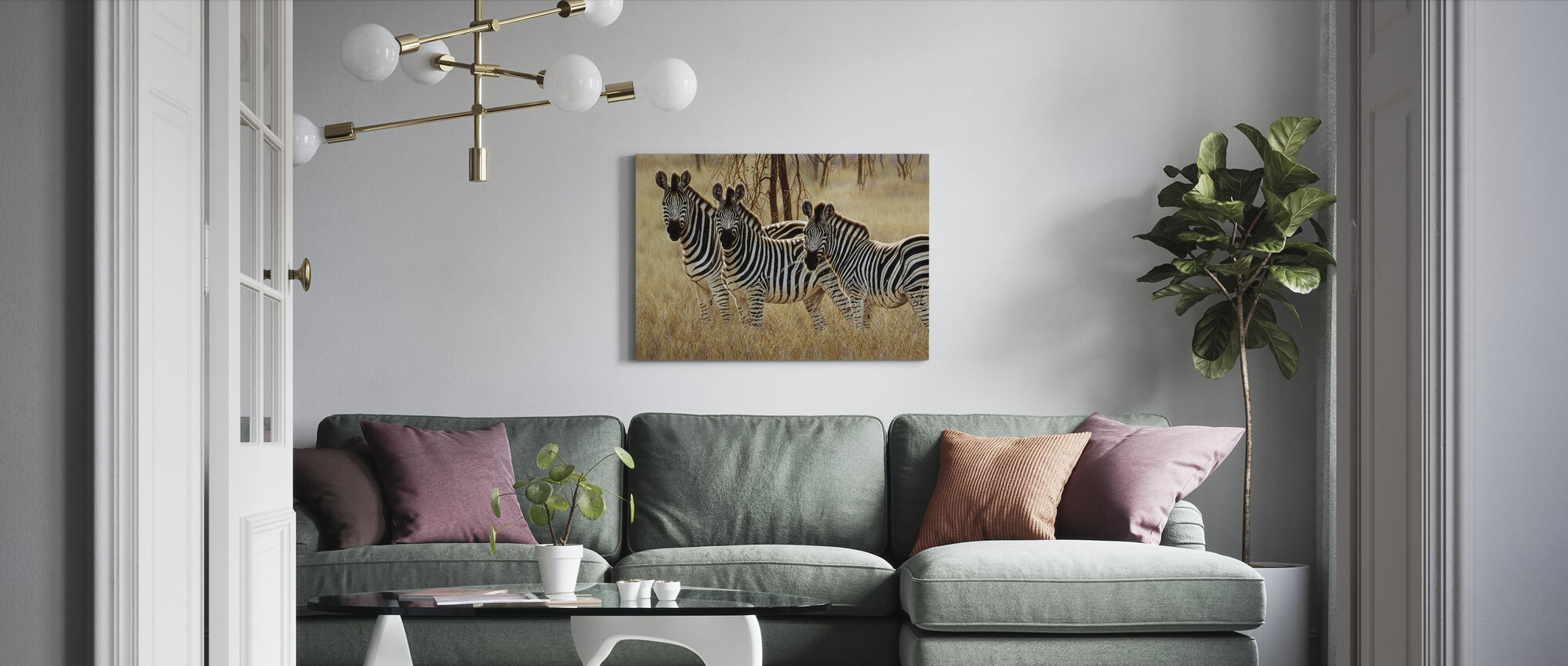 Patterns in the Grass - Canvas print - Living Room