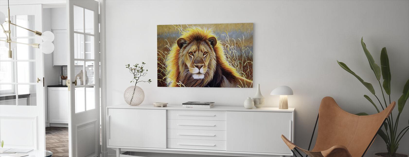 Lion Bust - Canvas print - Living Room