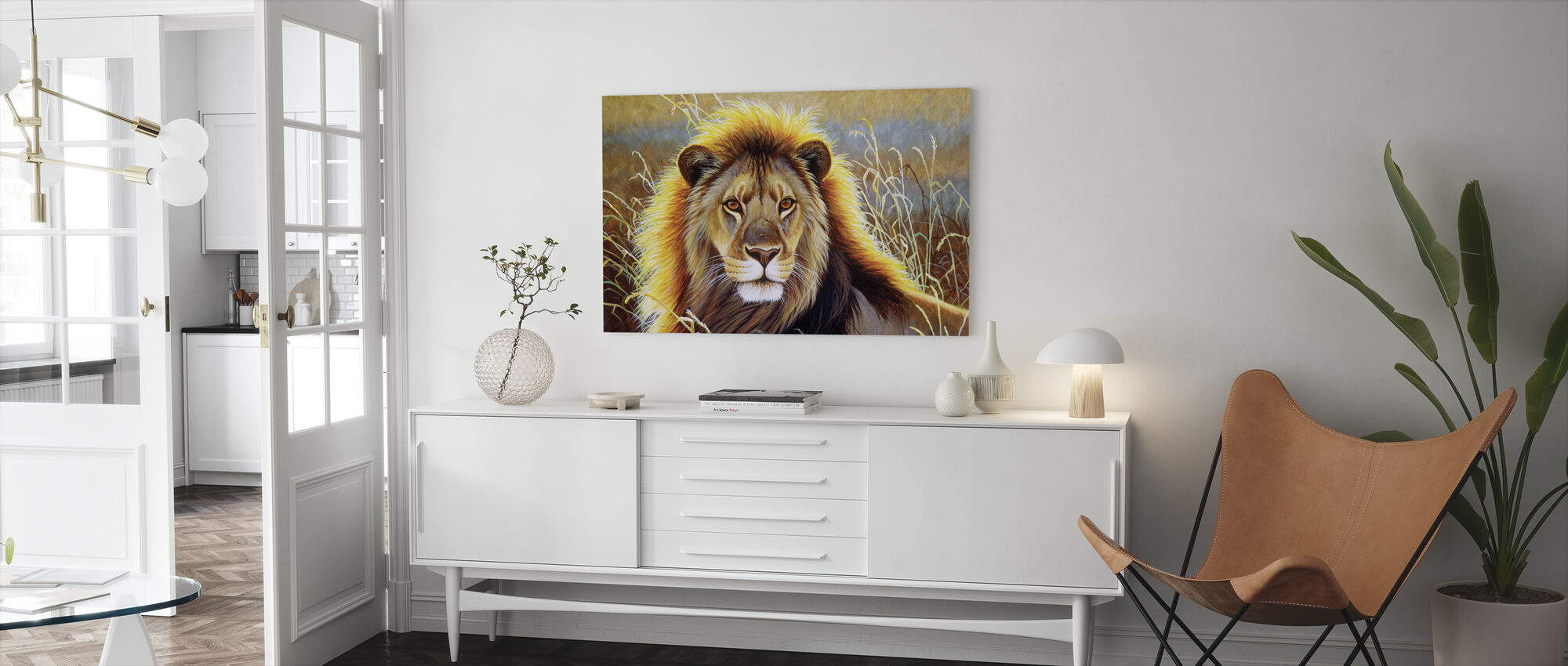 Lion Bust - Canvas print - Living Room