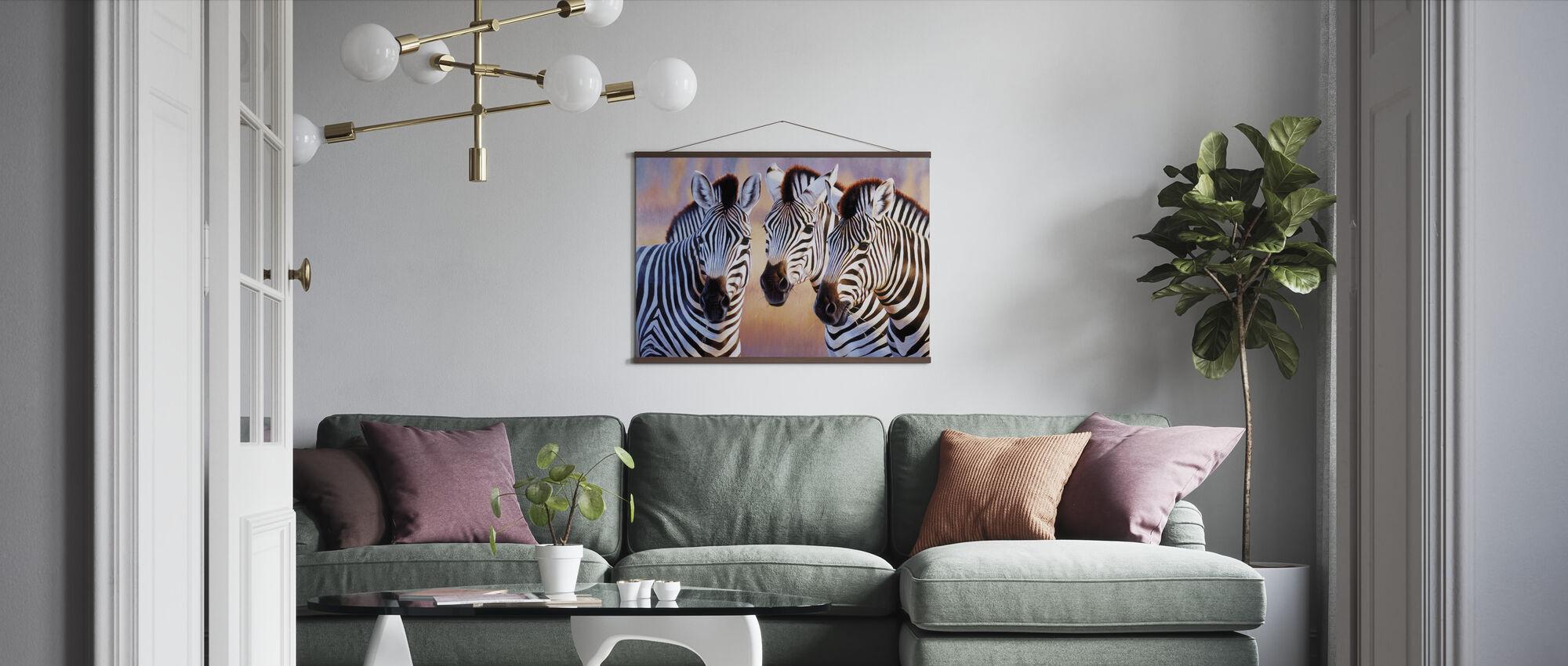 Stora Zebra huvuden - Poster - Vardagsrum
