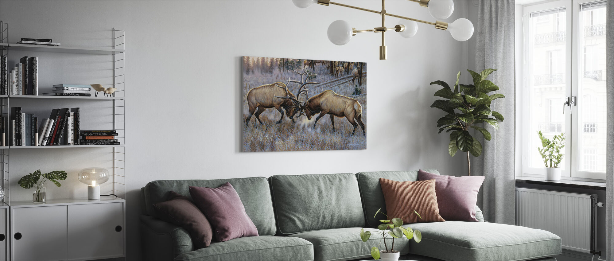 The Battle - Canvas print - Living Room