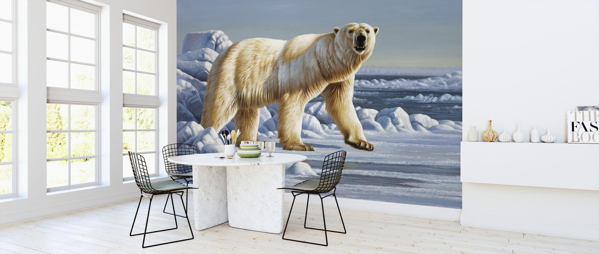 Isbjørn - Tapet - Kjøkken