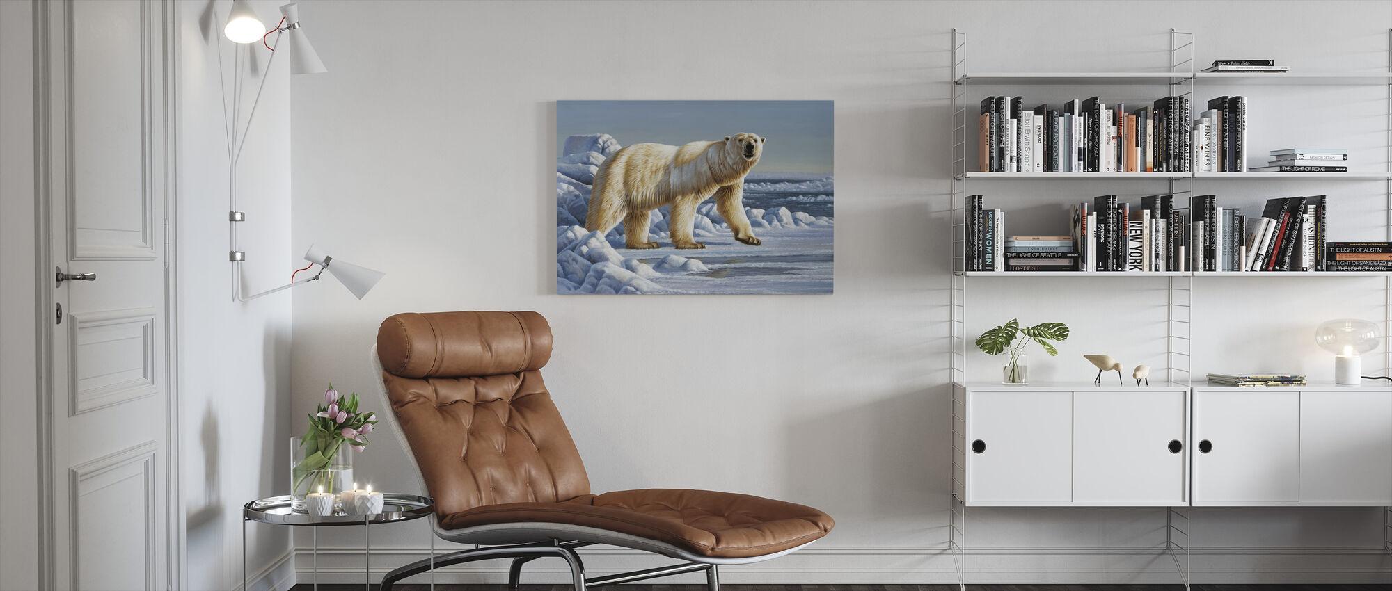 Niedźwiedź lodowy - Obraz na płótnie - Pokój dzienny