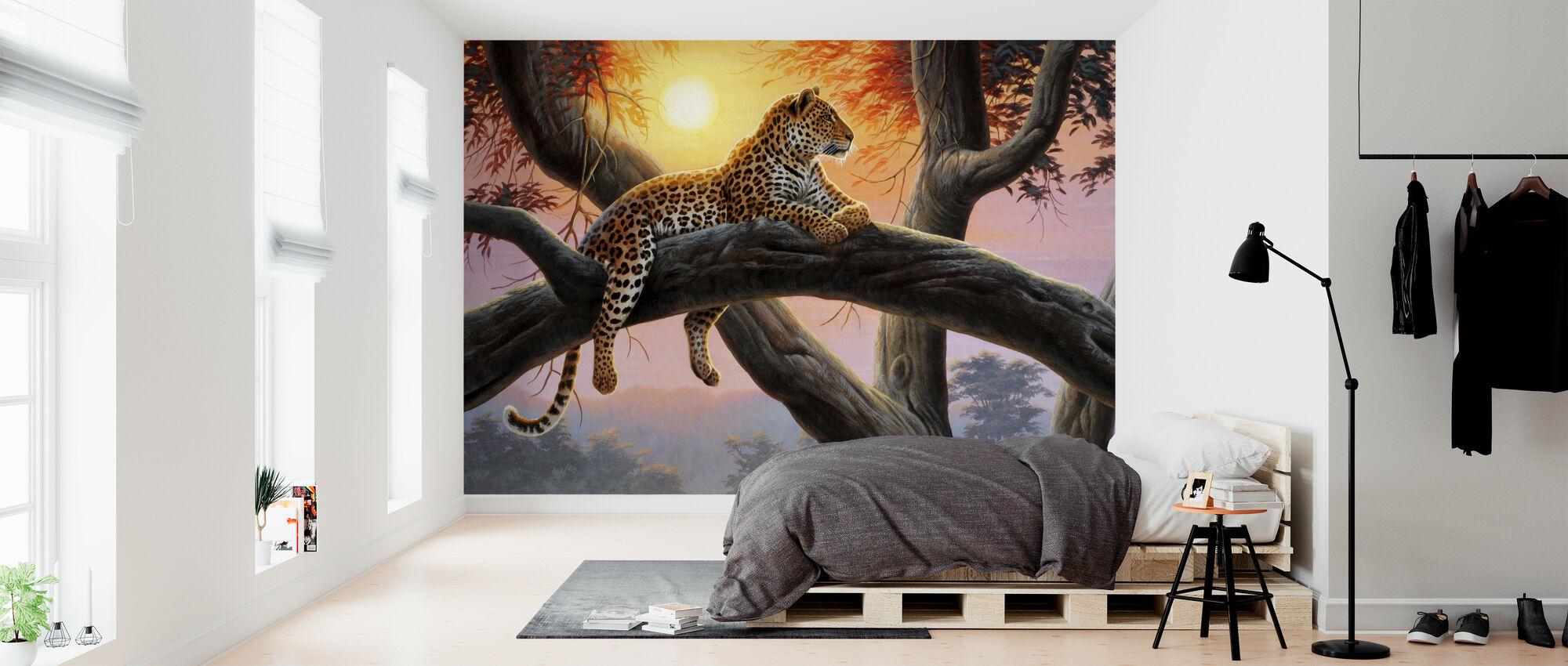 Evening Watch - Leopard - Wallpaper - Bedroom