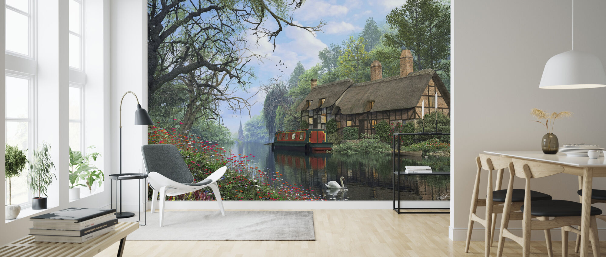 Old Woodland Canal - Wallpaper - Living Room