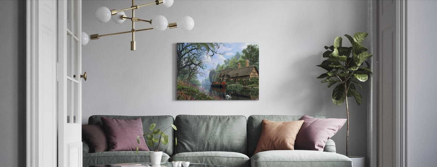 Oud Bos Kanaal - Canvas print - Woonkamer
