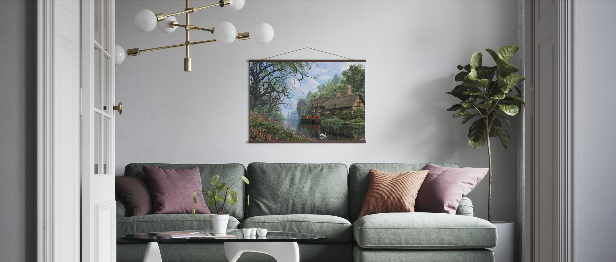 Old Woodland Canal - Poster - Living Room