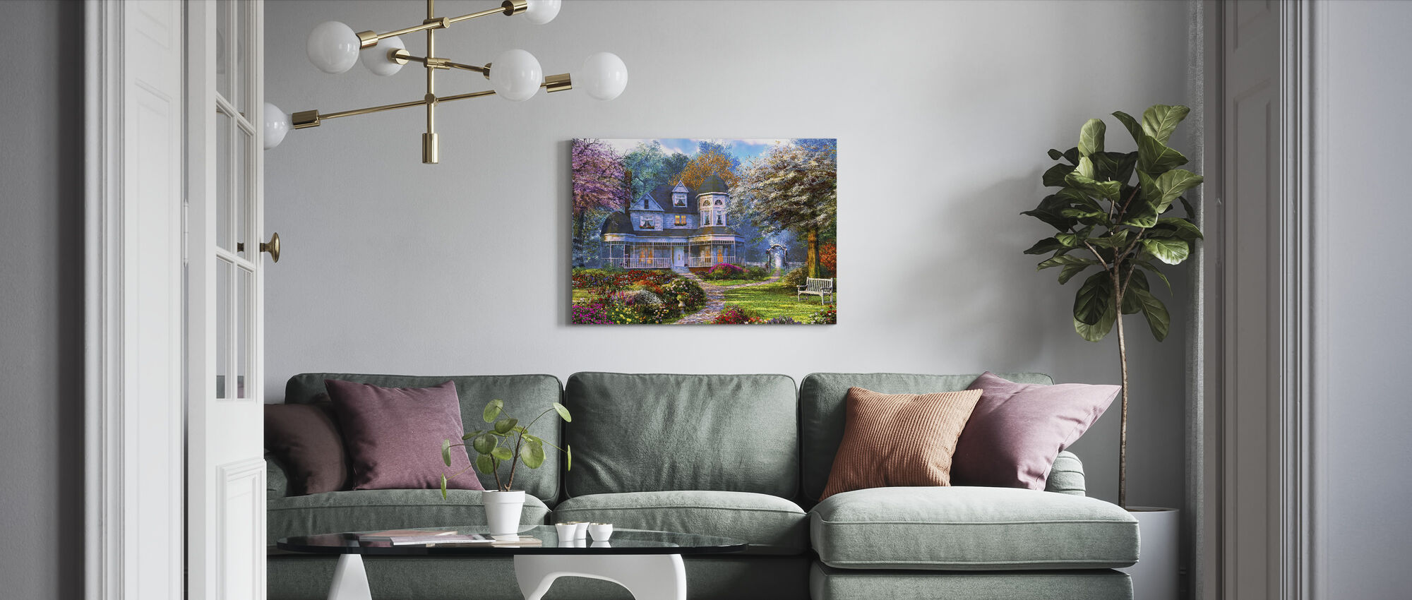 Viktorianska Hem - Canvastavla - Vardagsrum