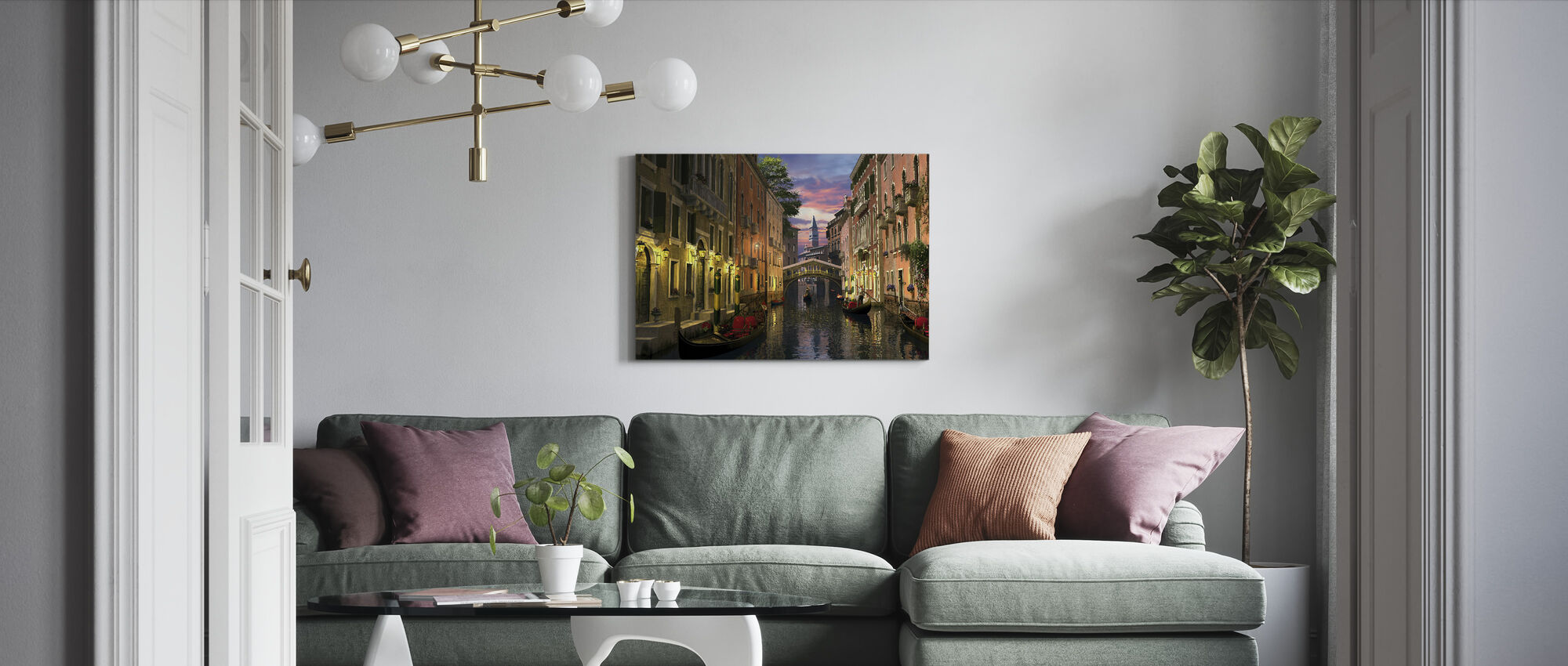 Venice at Dusk - Canvas print - Living Room