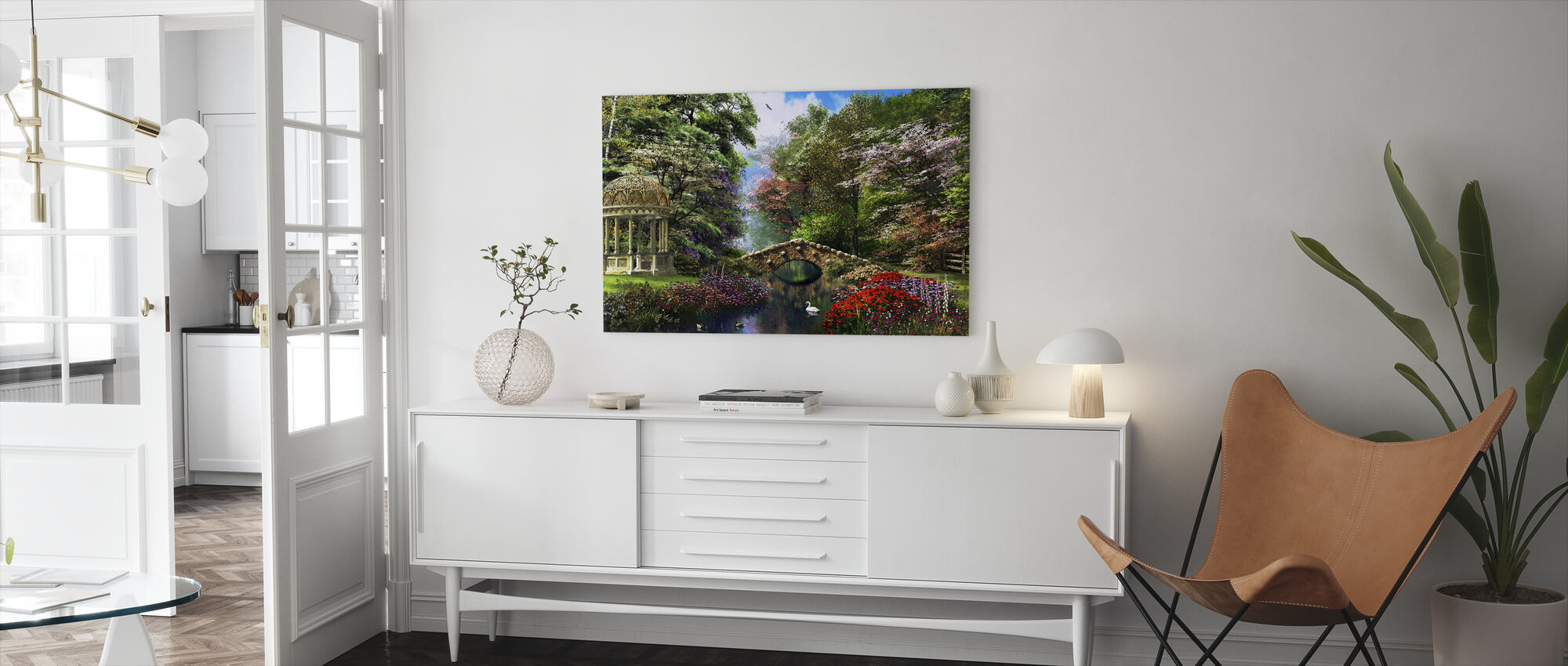 De Tuin van de Vrede - Canvas print - Woonkamer