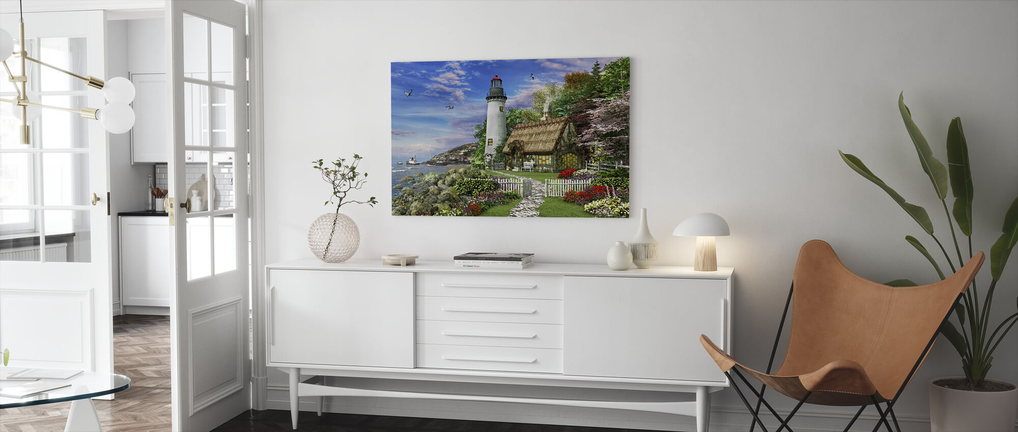 Oude Zee Cottage - Canvas print - Woonkamer