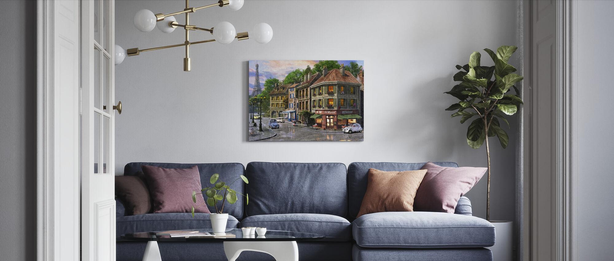Paris Streets - Canvas print - Living Room